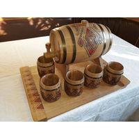 Сувенирный набор Бочка и бокалы для вина