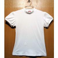 Р.152 гольф-блузка Pelican школьная белая, хлопок