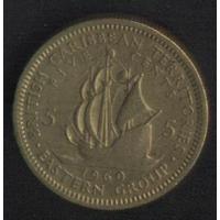 Карибы 5 центов 1960 г. Сохран!!!