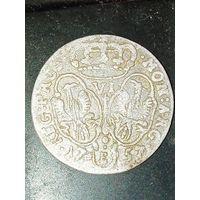 6 грошей Пруссия  Фридрих 2 Великий 1757 года
