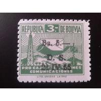 Боливия 1955 служебная марка, надпечатка Mi-1,8 евро