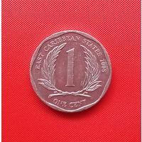 58-38 Восточные Карибы, 1 цент 2008 г.