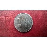 Индия 1 рупия, 2008г.  (а-7)