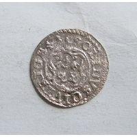 Шиллинг 1641 Рига Кристина Августа Ваза Прибалтийские владения Швеции