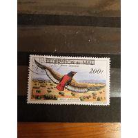 1960 республика Мали фауна птицы дорогая надпечатка авиапочта крупный номинал  (2-14)