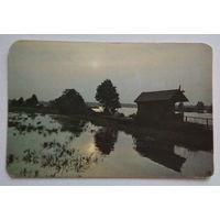 Календарик.1989.природа.на озере.