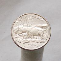 США 25 центов 2006 D Северная Дакота