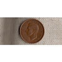 Великобритания 1/2 пенни 1943(Oct)