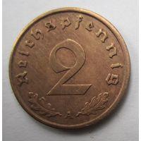 Третий рейх. 2 рейхспфеннига 1938 A.  2-127