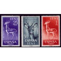3 марки 1964 год Ифни Антилопы 232-234