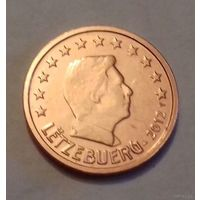 2 евроцента, Люксембург 2012 г., AU