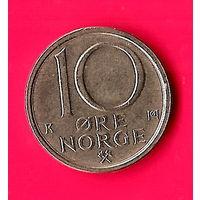 27-34 Норвегия, 10 эре 1988 г.