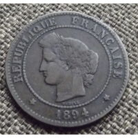 Франция. 5 сантимов 1894