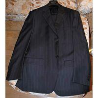 Темно-синий в серую полоску костюм Cerruti 100% шерсть