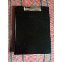 Папка-планшет с верхним зажимом. Цвет: черный, А4.