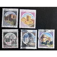 Италия 1980 г. Замки. Архитектура. 5 марок #0035-A1