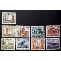 Венгрия 1951-53 г. Архитектура. 9 марок #0053-A1