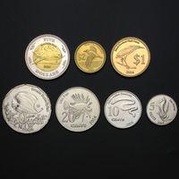 Кокосовые Острова (Килинг) годовой набор 7 монет  5,10,20,50 центов до 1,2, 5 долларов AU-UNC