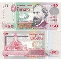 Уругвай 50 песо образца 2008 года UNC p87a