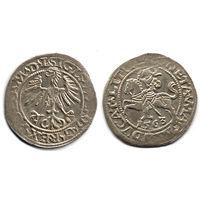 Полугрош 1563, Жигимонт Август, Вильно. Ав - 'D G' в легенде, окончание легенд - L, Рв - LITVA