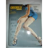 Чулки Oroblu 30 ден Италия цвет чёрный ажурные