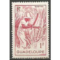 Гваделупа. Уборка сахарного тростника. 1947г. Mi#218.
