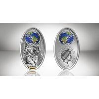 "Фиджи 10 долларов 2012г. ""Атлас"". Монета в капсуле; сертификат. СЕРЕБРО 20гр."