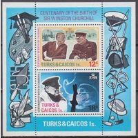 1974 Острова Теркс и Кайкос 339-40 / B4 Уинстон Черчилль