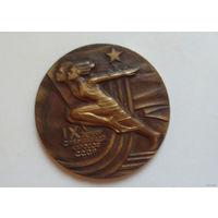 Настольная медаль. 9 спартакиада народов СССР. Бронза.