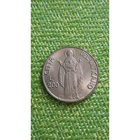Ватикан 200 лир 1990 г