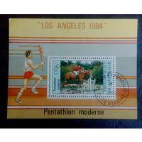 Кот-д Ивуар 1984 блок Спорт Олимпийские игры  Лос Анджелес 1984 Конный спорт