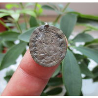 Нательный образок - иконка святой Архангел Михаил и Великомученица Варвара . Серебро 84 пр.