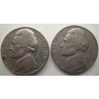 США 5 центов 1970 D, 1976 гг. Цена за 1 шт.