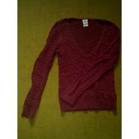 Почти новый джемпер Faded Glory, 100% хлопок (cotton), размер 46, цвет бордо; свитер, кофта