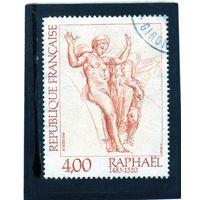 """Франция. Mi:FR 2390. Рафаэль (1483-1520). 500 лет со дня рождения. """"Венера и Психея"""" - фрагмент. 1983."""