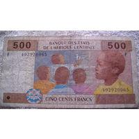 Центральная Африка Конго. 500 франков 2002г. распродажа