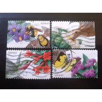 США 2007 цветы, птицы, насекомые полная серия