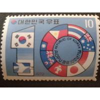 Корея Южная 1972 Флаги членов AOPU