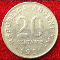 7606:  20 сентаво 1951 Аргентина