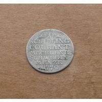 Мекленбург-Шверин, 1 шиллинг 1770 г., серебро