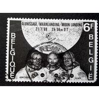 Бельгия  1969 г. Космос, полная серия из 1 марки #0055-K1