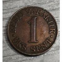 Эстония  1 цент 1939 год. Редкий