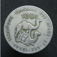 Франзузкие Афар и Исса 100 франков 1975