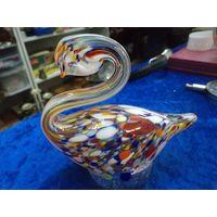 Лебедь, цветное стекло(2)