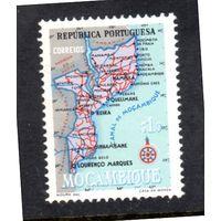 Мозамбик.Ми-441. Карта Мозамбика.1954.