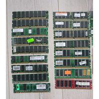 Оперативная память от старых ПК и заглушки материнки, цена за 1 шт.