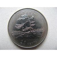 Канада 25 центов 1992 г. 125 лет Конфедерации Канада - Онтарио (юбилейная)