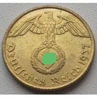 10 рейхспфеннигов 1937 Е нечастая