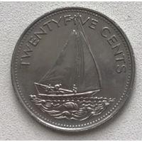 Багамские острова 25 центов 2000 г.