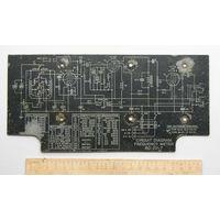 Табличка ( шильдик ) со схемой от американского прибора ( радиочастотометр )  WWII ленд-лиз